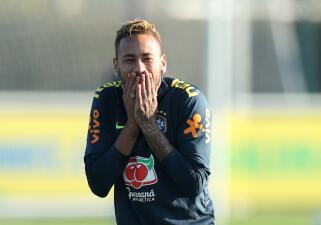 Neymar pone las risas en el entrenamiento de Brasil pensando en Arabia Saudita y Argentina