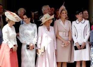 Kate se pone el vestido 'de siempre' en su encuentro con Letizia y Máxima, las reinas más fashionistas de Europa