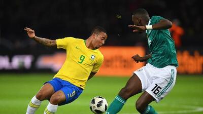 Al descanso, Brasil derrota 1-0 a Alemania en Berlín