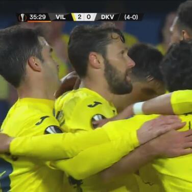 ¡Liquidado! Gerard Moreno con un zurdazo marca el 2-0 de Villarreal