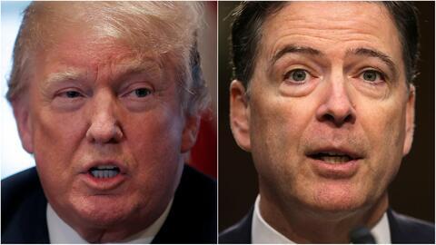 """""""Fue un honor despedirlo"""": Trump arremete contra Comey y lo ataca llamándolo """"filtrador y mentiroso"""""""