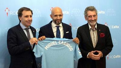 Miguel Cardoso se equivocó en su presentación con el Celta, agradeció al 'Depor'