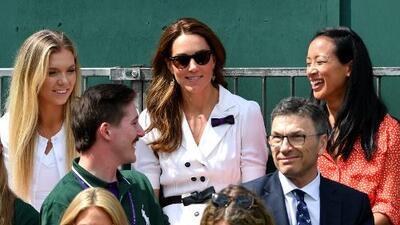 Kate Middleton cambia el palco real por una pista anexa en Wimbledon