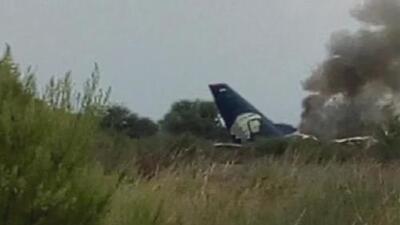Aeroméxico reporta el accidente de uno de sus aviones en Durango, México