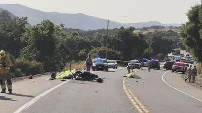Cuatro personas murieron tras un accidente de motocicletas en el condado Orange