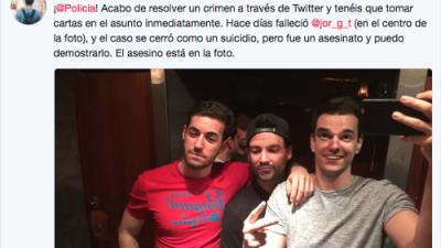 """Más de 80,000 personas leyeron la historia falsa en Twitter sobre """"un crimen"""" que queda revelado en esta foto"""