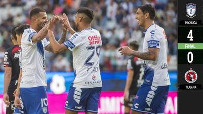 ¡Festín en el Hidalgo! Pachuca goleó sin compasión a Xolos
