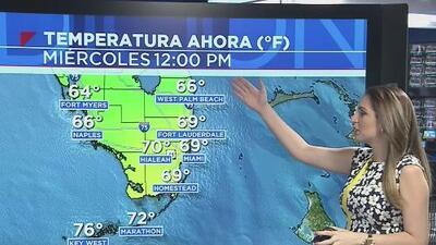 El frente frío que se esperaba en el sur de Florida ya pasó, pero continúan las bajas temperaturas