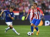 Atlético de Madrid dejó abierta la eliminatoria con un triunfo mínimo ante Leicester