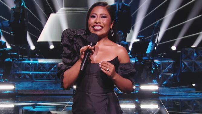 Yalitza Aparicio debuta como host del Latin GRAMMY acompañada de Ana Brenda y Víctor Manuelle