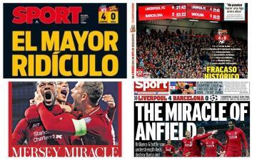 Estas fueron las reacciones de la prensa deportiva en Europa tras la remontada del Liverpool