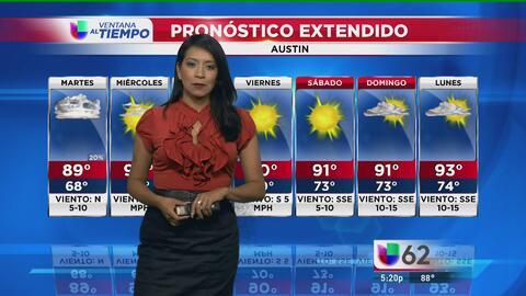 Granizo y fuertes vientos llegan a la región de Austin