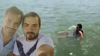 """""""Al agua, patos"""": Eugenio Derbez obligó a su hijo José Eduardo a meterse al agua para esquiar (y no te pierdas su reacción)"""