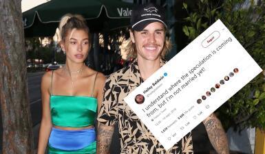 Hailey Baldwin desmiente que ya esté casada con Justin Bieber, tras reportes de boda