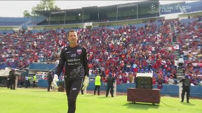 ¡'El Gato' volvió a jugar! Félix Fernández tapó con leyendas de Atlante