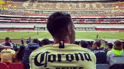 Diego Reyes presente en el América vs Atlas