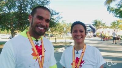 RD Tech: Adriana Monsalve y Adrián Álvarez corrieron un 5k conectados a un APP