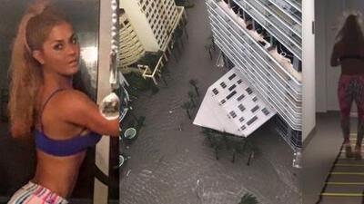 Aunque asustada, Maripily Rivera mostró cómo vivió el huracán Irma desde un piso 32