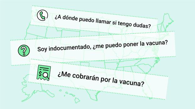 Elige tu estado y esta guía te explica cómo vacunarte contra el covid-19 en cuatro pasos