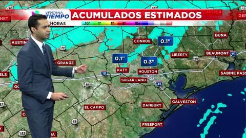 Probabilidad de lluvia ligera y fuertes vientos en Houston