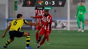 Atlético avanza sin problemas en la Copa del Rey sin Héctor Herrera