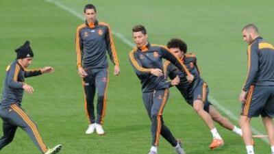 Cristiano Ronaldo, Ramos y Marcelo completan el entrenamiento con Real Madrid