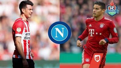 ¿Por qué es factible que la dupla 'Chucky' Lozano-James Rodríguez se concrete para el Napoli?