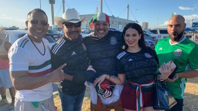 📸 El Bueno, La Mala y El Feo prendieron la fiesta previo al partido México - Argentina