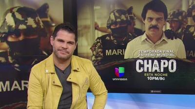 Marco de la O habla sobre el difícil cambio físico que tuvo que hacer para interpretar a 'El Chapo' en la serie