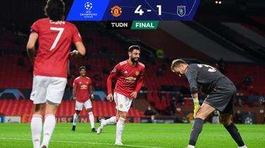 Manchester United supera al Basaksehir con doblete de Fernandes