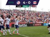 Team USA golea a Costa Rica con suplentes europeos