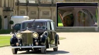 Esta es la primera imagen en video de Meghan Markle vestida de novia (con velo y Rolls Royce)