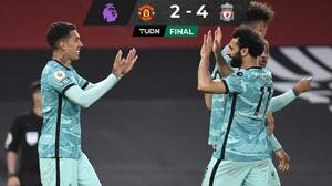 Liverpool golea al United y se mete a puestos europeos