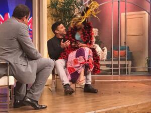 Ricky Martin se encontró con una diosa emplumada