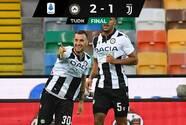 Udinese venció a la Juventus y evitó el título de la Vecchia Signora
