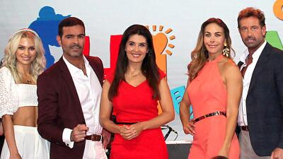 En fotos: Vanessa Guzmán, Gabriel Soto e Irina Baeva presentaron 'Soltero con hijas', su nueva telenovela