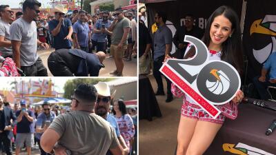 EN FOTOS: El alboroto que armaron El Bueno, La Mala y El Feo en San Diego