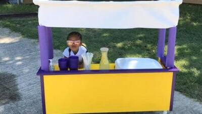 La tierna historia de una niña de 3 años que vende limonada para comprar pañales a los bebés más necesitados