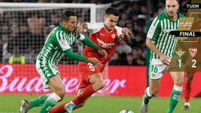 Betis cayó ante Sevilla en un intenso derbi; Guardado, el único mexicano en cancha