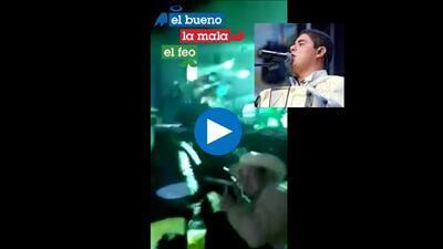 Momento en que atacan a balazos a cantante Alfredo Olivas en pleno concierto en Chihuahua