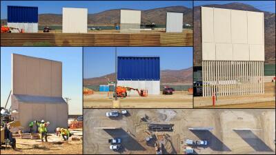 Los 'gigantes' que compiten por ser el muro fronterizo de Donald Trump