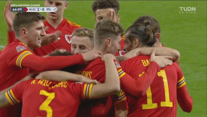 ¡Tres cabezazos, asistencia de Bale y el 1-0 de Gales ante irlanda!