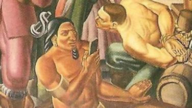 ¿Te parece que hay un iPhone en esta una pintura de 1937? No eres el único