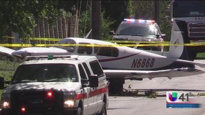 Avioneta cae en un vecindario al norte de San Antonio