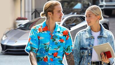Justin Bieber llevó a pasear a Hailey Baldwin a bordo de su nuevo Lambo