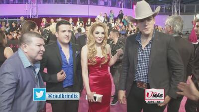 Leandro Ríos, Pancho Uresti y Melissa Plancarte en la alfombra