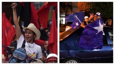 Simpatizantes de candidatos a la Presidencia de Honduras celebran sin resultado de las elecciones