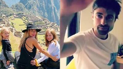 Mientras Geraldine Bazán vacaciona con sus hijas, Santiago Ramundo se pone romántico ¿y le canta?
