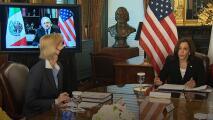 """""""Debemos luchar contra la violencia, la corrupción y la impunidad"""": así fue la reunión entre Kamala Harris y López Obrador"""