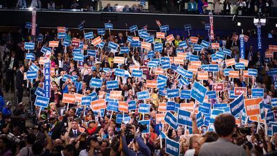 Los hispanos ayudan a construir la Convención Nacional Demócrata